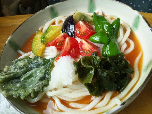 夏野菜うどん 野口製麺所