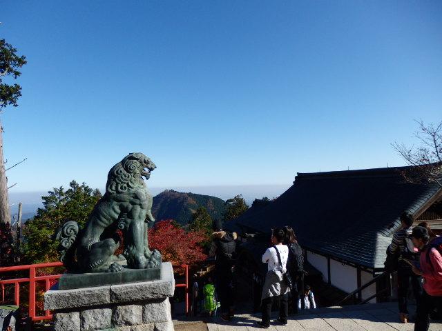 御岳山の頂上からの眺め
