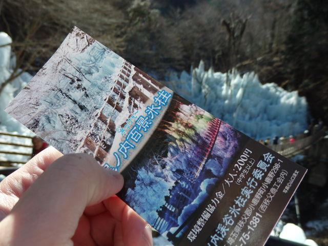 尾ノ内渓谷の氷柱 チケット