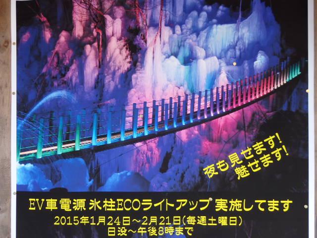尾ノ内渓谷の氷柱 ライトアップ