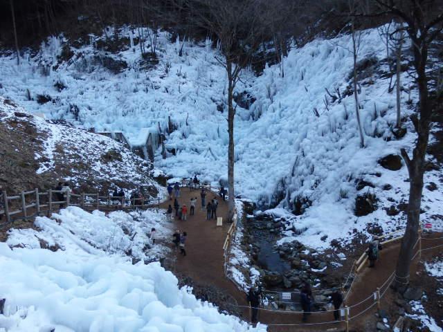 あしがくぼの氷柱 上からの景色