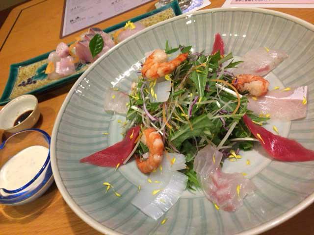 ホテルアローレ 海鮮サラダ
