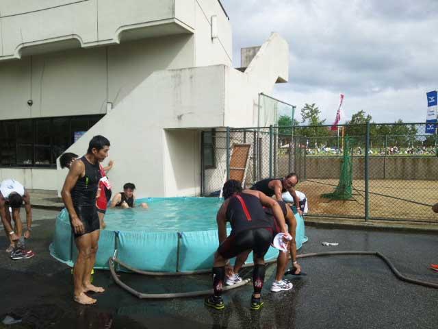 トライアスロン珠洲 冷水プール