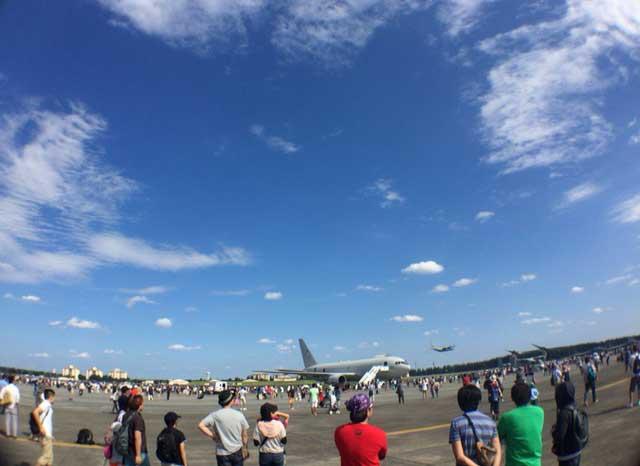 横田基地 友好祭 2015 飛び立つ飛行機