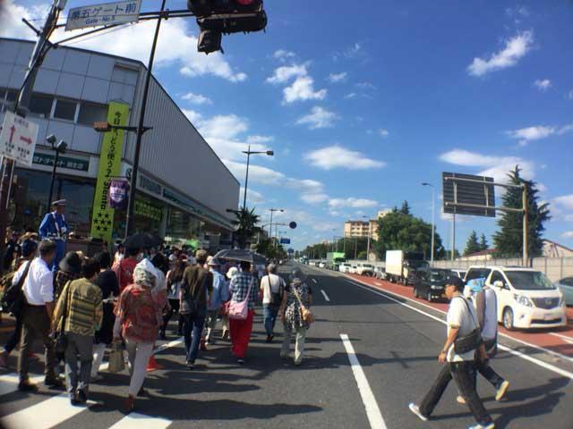 横田基地 友好祭 2015 渋滞