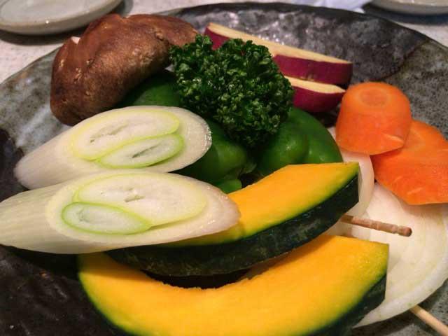 明月館 野菜焼き