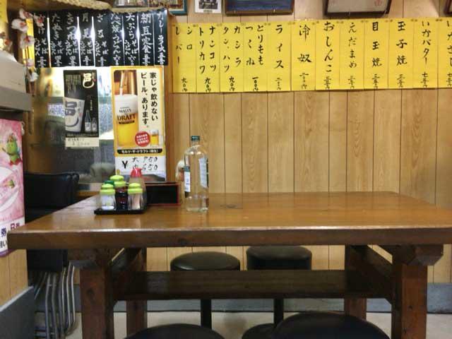 東村山市 たけうち食堂 店内の様子