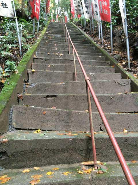 秩父御嶽神社 階段