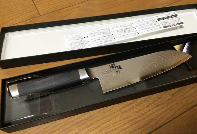 関孫六 ダマスカス 三徳包丁 165mm_AE5200
