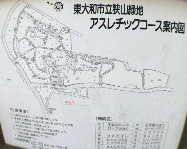 狭山緑地アスレチックスコース案内図