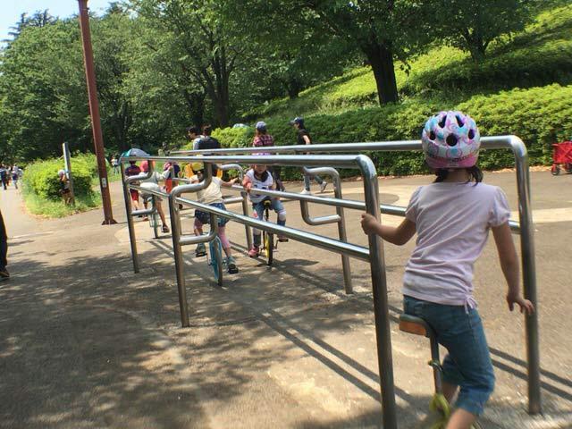 小金井公園 一輪車練習