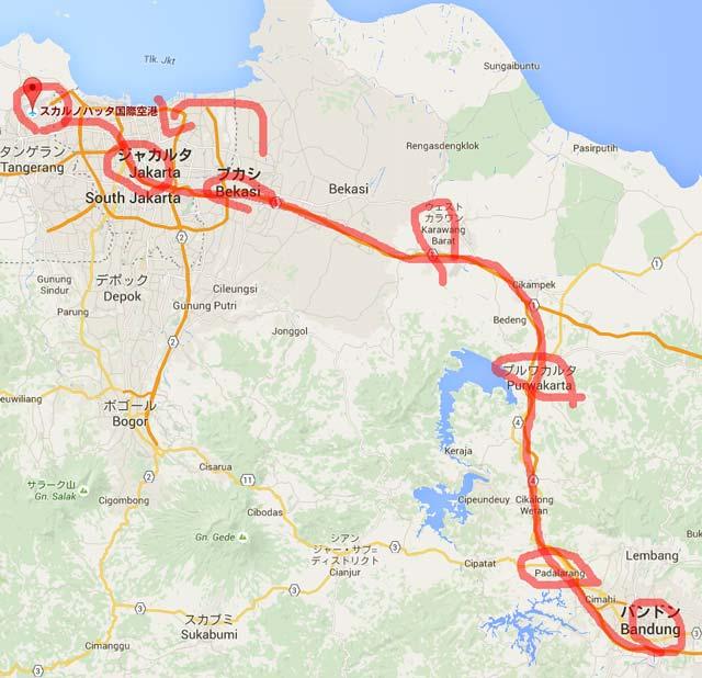 ジャカルタ 地図