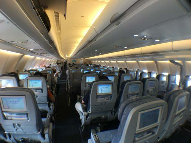 チャイナエア 機内写真