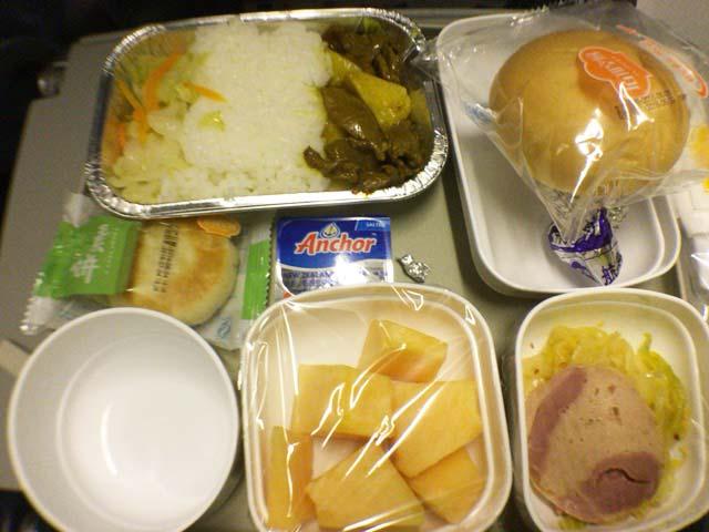 チャイナエアの機内食