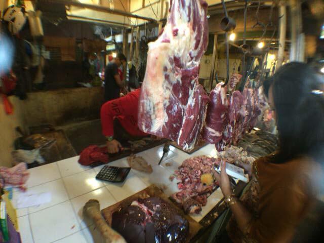 インドネシアの肉屋さん