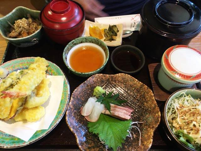 東村山 たきび 刺身・天ぷら膳