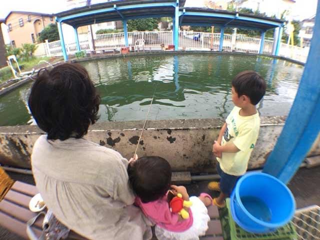 東村山 金魚釣り