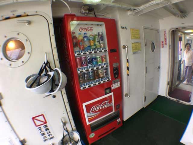 ニューへぐら号 自動販売機