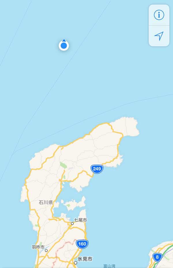 舳倉島 スマホ電波