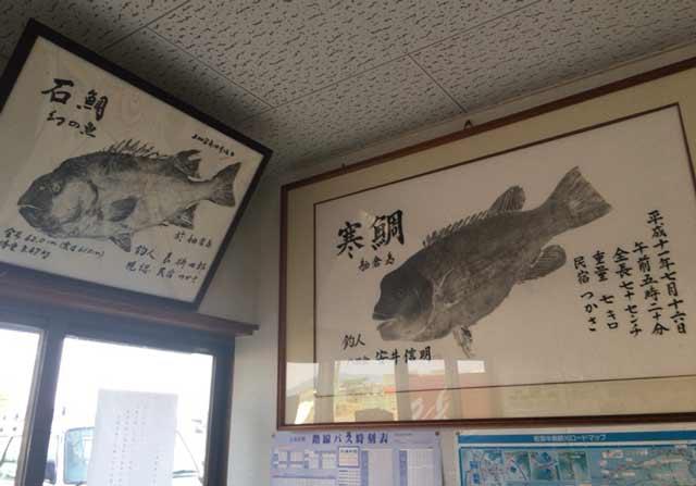 舳倉島 魚拓