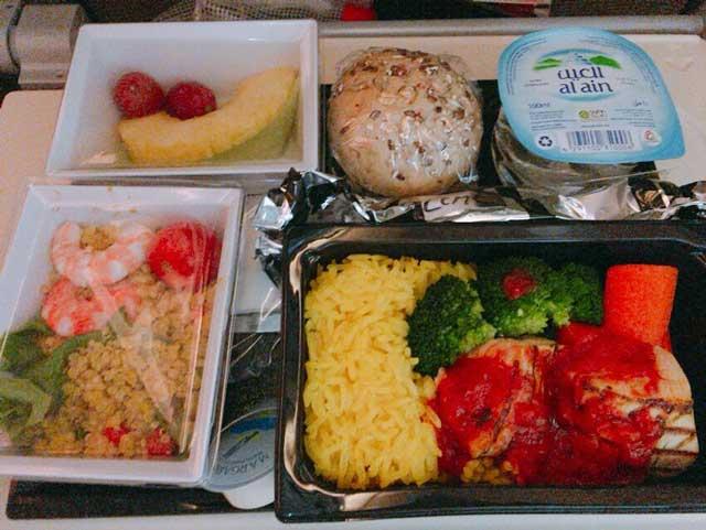 エティハド航空 低カロリー食