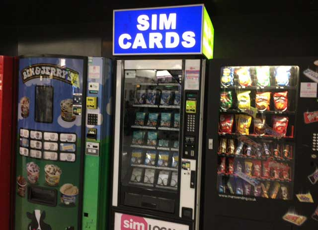 LONDON SIM cards