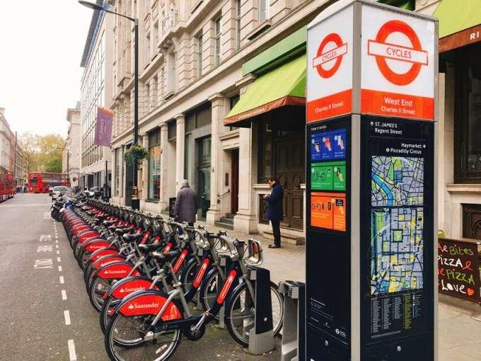ロンドン 自転車