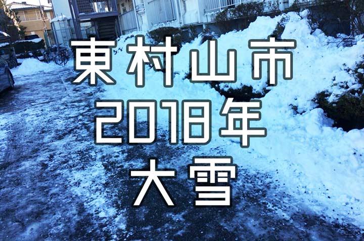東村山市 2018 雪