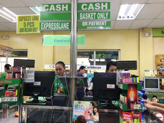 フィリピン スーパーのレジ