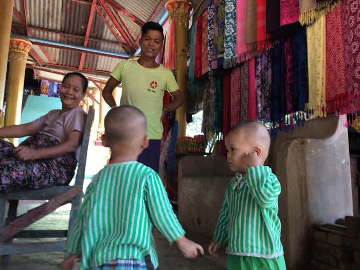 ミャンマー人家族