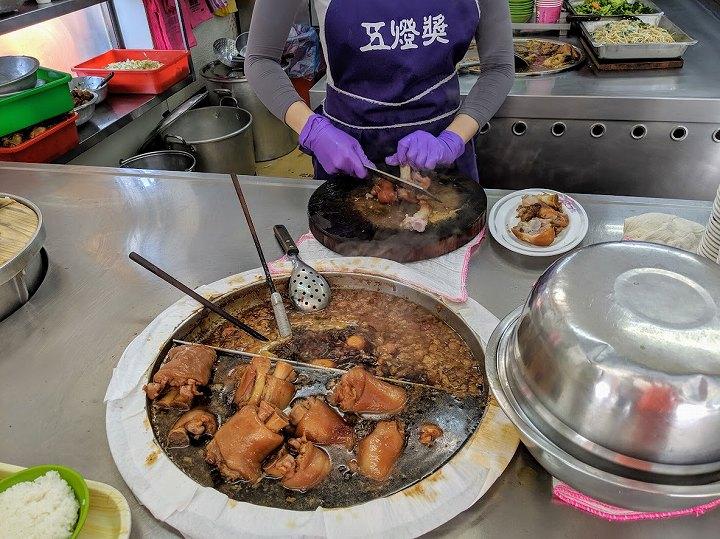 台北 豚足の煮込み定食