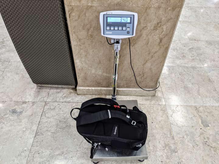 海外一人旅 バッグ重量