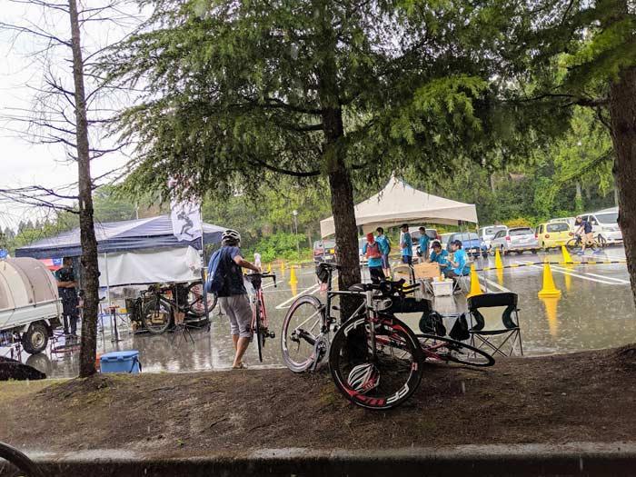 トライアスロン珠洲 雨