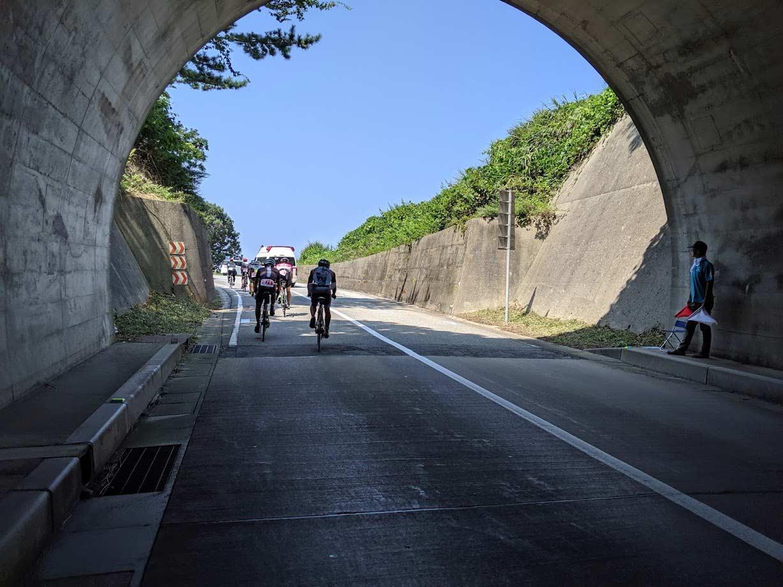 トライアスロン珠洲2019 トンネル